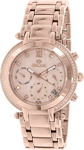 Precimax Women's PX13348 Glimmer Elite Analog Display Swiss Quartz Gold Watch