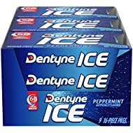 Dentyne Ice Peppermint Sugar Free Gum, 9 Packs of 16 Pieces (144 Total Pieces)