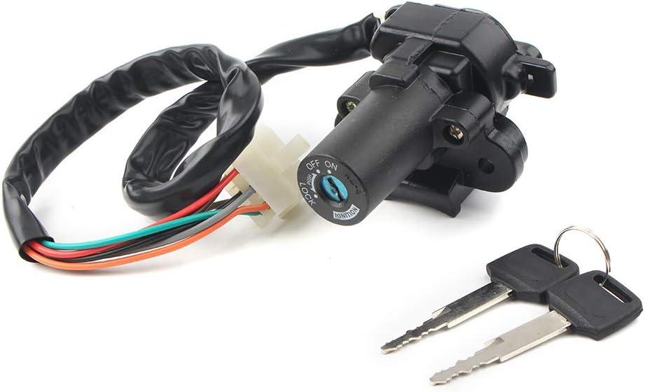 GZYF Motorcycle Ignition Switch Lock & Keys Set Compatible with Kawasaki ZZR400 ZZR600 ZXR750 Ninja ZX-6R ZX-7R ZX-9R
