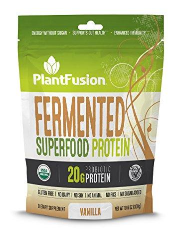 PlantFusion Fermented Superfood Protein Powder, Vanilla Chai, 10.6 oz Packet, USDA Organic, Non-GMO, Gluten Free