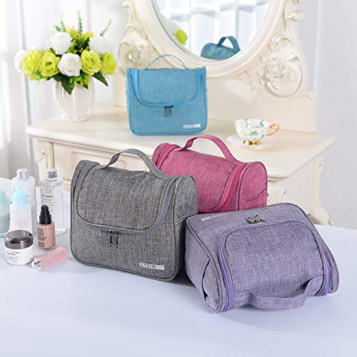 Enteer Hanging Toiletry Bag with Zipper TSA Friendly Travel Bag make up Bag