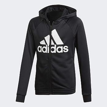 Adidas YG Hood PES TS Tracksuit, Niñas, Top:Black Bottom:Black ...