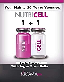 Botox for Hair Swiss NUTRICELL Serum Stem Cells Argan & Silk Protein ((1 Pair