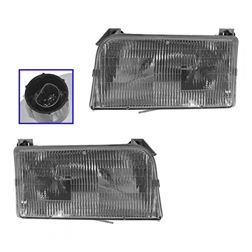1995 Ford Truck Headlight Headlamp (Headlights Headlamps Left & Right Pair Set for Ford F-Series Pickup Truck)