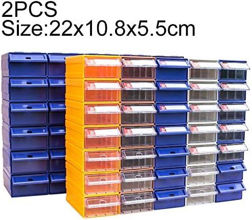 HZG 2 PCS肥厚複合プラスチック部品キャビネット引き出しタイプコンポーネントボックスビルディングブロックの材質ボックスハードウェアボックス、ランダムな色配達、サイズ:22センチメートルX 10.8センチメートルX 5.5センチメートル 職人スペシャルパッケージ