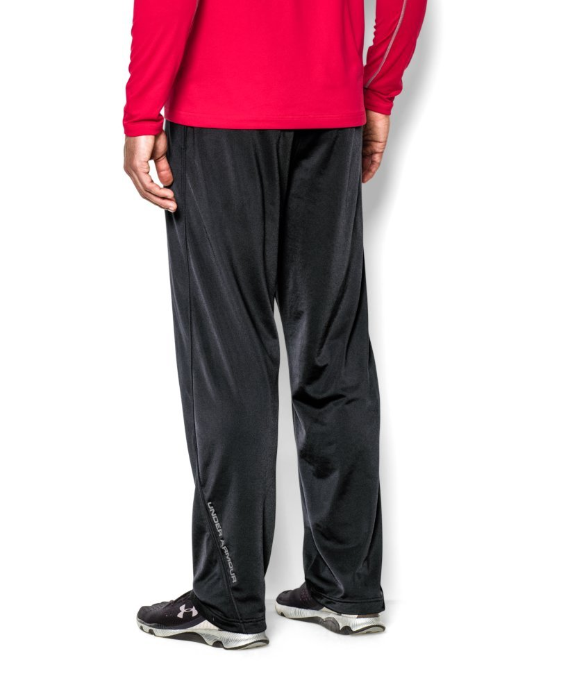 Under Armour Men's Relentless Warm-Up Pants – Straight Leg, Black/Graphite, X-Large by Under Armour (Image #2)