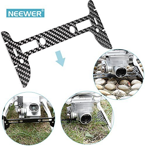 Neewer Carbon Fiber Black Gimbal Guard for DJI Phantom 3 Standard, Professional and Advanced, Protects Camera & Gimbal