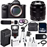 Sony Alpha a7R II Mirrorless Digital Camera (International Model no Warranty) + Sony E-Mount SEL 1855 18-55mm Zoom Lens (Black) + 49mm 3 Piece Filter Kit 6AVE Bundle 21