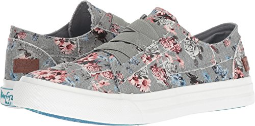 Blowfish Women's Marley Drizzle Grey Love Letter Ankle-High Canvas Fashion Sneaker - 7.5M]()