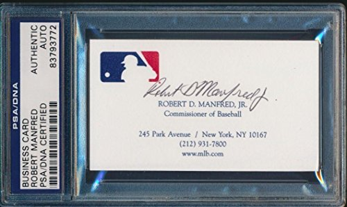 Robert D Manfred Jr Signed Business Card Mlb Commissioner #83793772 - PSA/DNA Certified - MLB Autographed Baseball - Robert D Junior