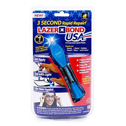 New! Lazer Bond 3 Second Rapid Repair UV Activated Liquid Resin As Seen On TV!!