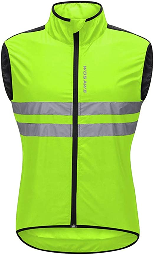 ZHXYY Unisex Ciclismo Chaleco Cortavientos Impermeable Ligero sin ...