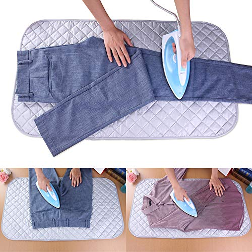 ANSUG Ironing Mat, Foldable Ironing Blanket Safe Durable Heat Resistant Pad Washer Dryer Ironing Board Cover for Table,Travel and Flat Surface - 33.5