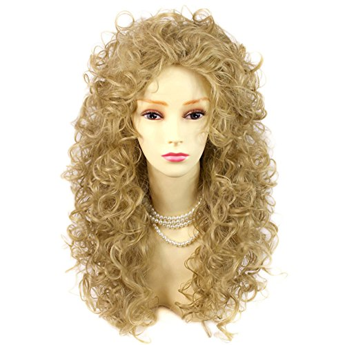 AMAZING SEXY Wild Untamed Long Curly Wig Gold blonde Ladies Wigs ! Wiwig - Ladies Blonde Wigs