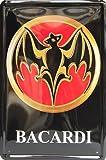 BACARDI, Metal Tin Sign, Tin Poster, Art Vintage Style Wall Ornament Coffee Decor, 20 X 30 Cm.