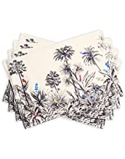 Maison d' Hermine 100% Cotton Set of 4 Placemats for Dining Table   Kitchen   Wedding   Everyday Use   Dinner Parties   Thanksgiving/Christmas