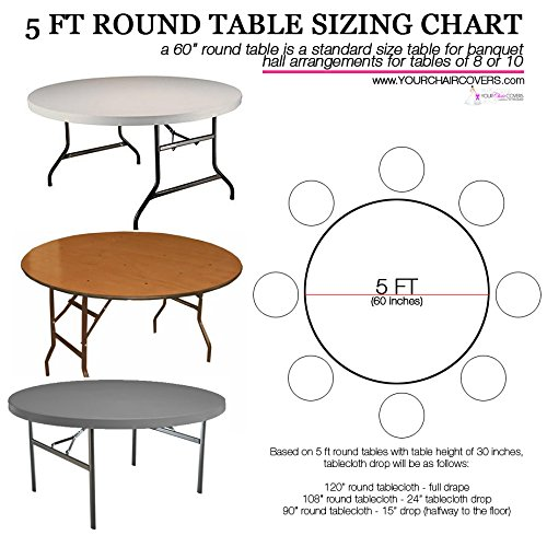Amazon.com: Your Chair Covers   132 Inch Round Satin Tablecloths Ivory, Round  Table Linens For 6 Ft Round Banquet Tables: Home U0026 Kitchen