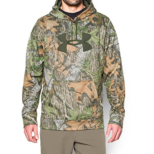 Under Armour Men's Storm Camo Big Logo Hoodie, Mossy Oak Obsession (940)/Rifle Green, X-Large