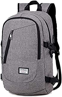 QWKZH Sacs à Dos Backpack for Men Women Teenagers School Office Laptop Children Casual Travel Shoulder Bag Waterproof Oxford Daypack Mochila Bags