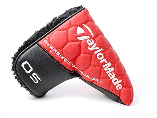 New 2016 TaylorMade OS Spider Red Black Blade Putter Headcov
