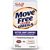 Move Free Ultra Omega, 30 softgels - Joint Health Supplement with Omega-3 Krill Oil and Hyaluronic Acid (Pack of 10)