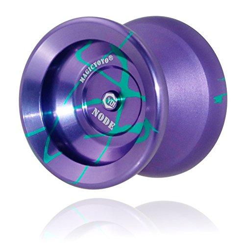 Qiyun Magic Yo Yo Ball Aluminum Professional Bundle Ball, U Type Bow Shape, Professional Alloy Dark blue