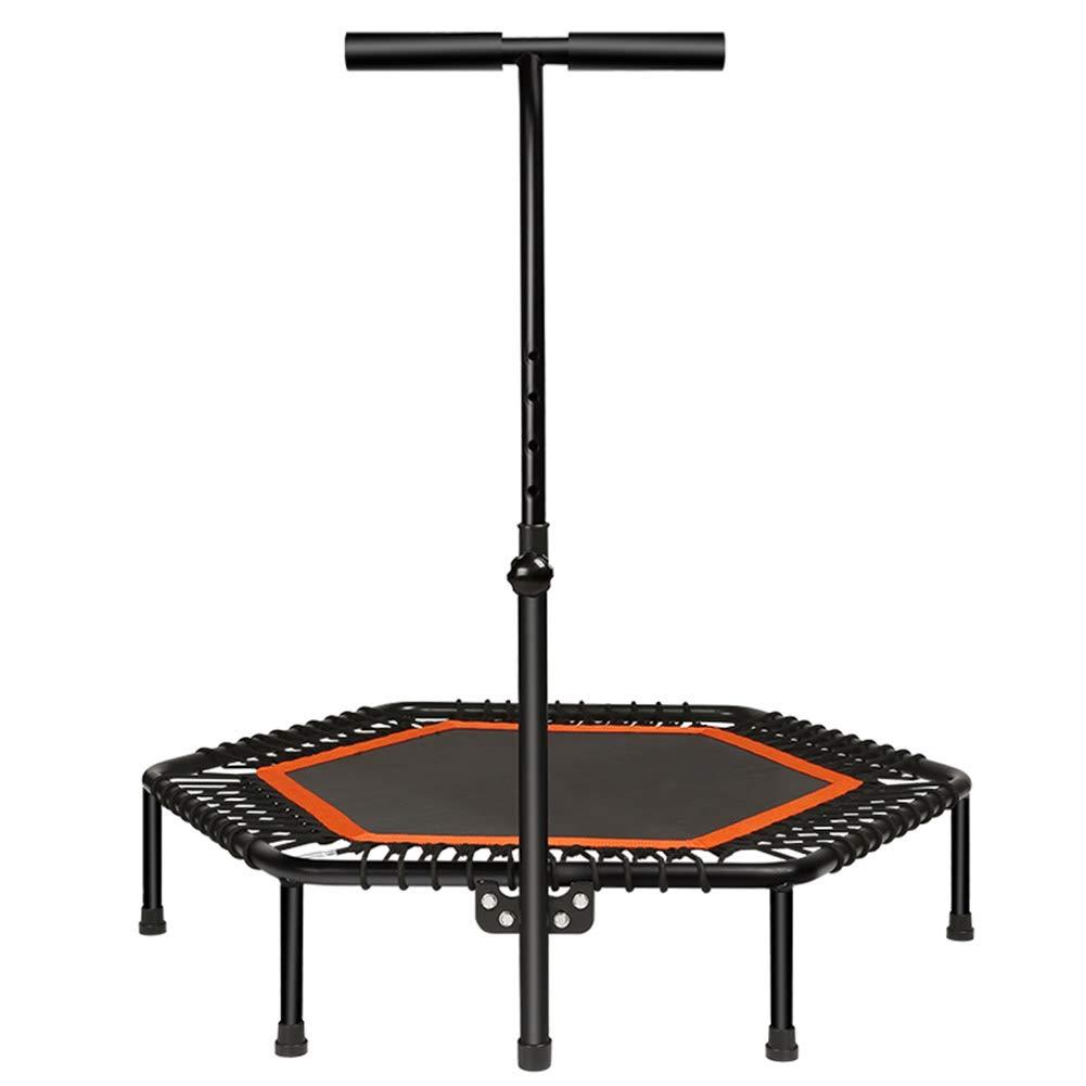 Gartentrampoline Trampolin mit verstellbarem Handlauf Lenker, Urban Cardio Workout Home Trainer, Indoor oder Outdoor für Kinder Erwachsene Sprungbett 3,6 ft