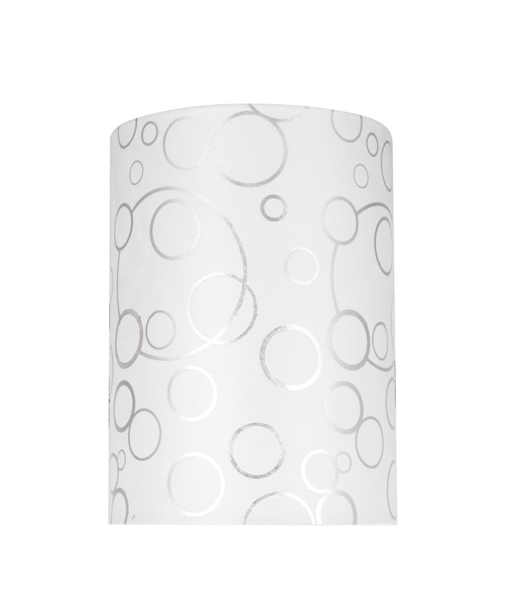 Aspen Creative 31114 Transitional Hardback Drum (Cylinder) Shaped Spider Construction Lamp Shade in White, 8'' wide (8'' x 8'' x 11'')