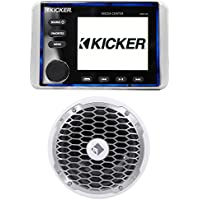 KICKER KMC20 Marine Digital Media Receiver/Stereo w/Bluetooth+Rockford Subwoofer