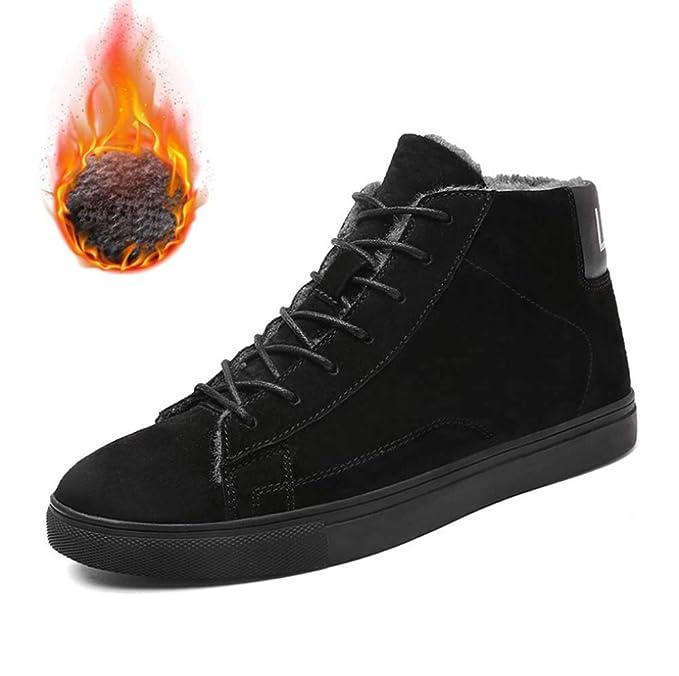 Hombres Martin botas de invierno, cargadores calientes tacón ...