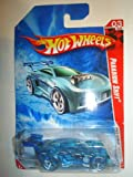 HOT WHEELS 2010 RACE WORLD 03 OF 04 TRANSLUCENT CLEAR BLUE PARADIGM SHIFT