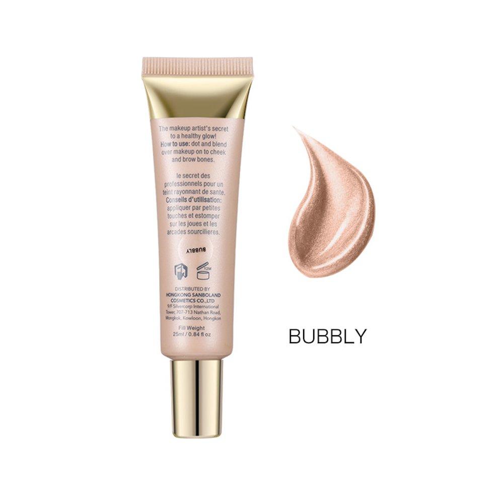 KAYI Soft Tube Pearl Shimmer Liquid Highlighter - Face Illuminater, Bronzer for Cheekbone, T-zone, Bridge of Nose