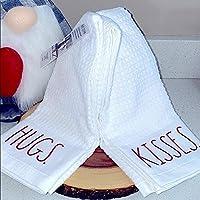 Rae Dunn HUGS & Kisses Kitchen Towels