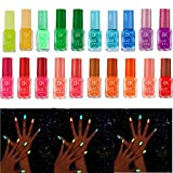Gel Polish,vmree Fluorescent Neon Luminous Gel Nail Polish for Glow in Dark Nail Varnish (C)