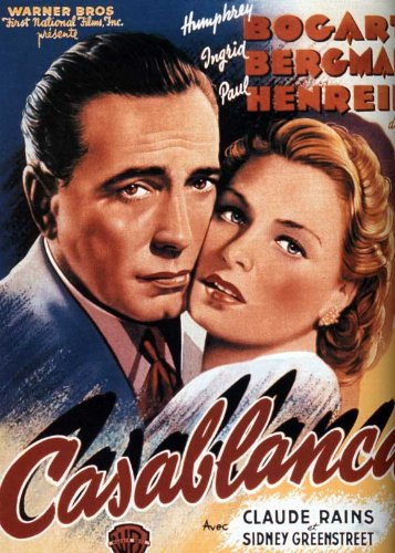 Casablanca Poster Movie French D Humphrey Bogart Ingrid Bergman Paul Henreid Claude Rains