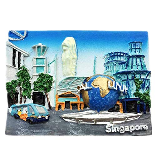 (Fridge Magnet Luminous Universal Studios Singapore 3D Resin Handmade Craft Tourist Travel City Souvenir Collection Letter Refrigerator)