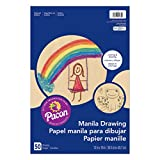 Pacon PAC4139 Manila Drawing Paper, 12'' x 18'', 50 Sheets