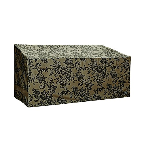Patio Armor Loveseat/Bench Cover With Pu Coating, Damask Print by Patio Armor