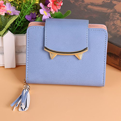 JD Million shop Cat Ears Leather Short Tassel Women Wallet Small Day Clutch Trifold Female - Models Oakley Old