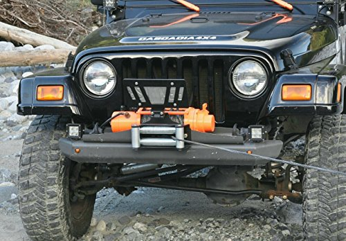 Cascadia 4x4 Flipster V2 - Winch License Plate Mounting system - Hawse/Roller fairlead compatible - Made in USA/Canada Winch Mounting System