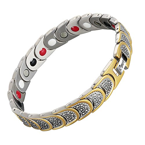 EBUTY Titanium Magnetic Therapy Bracelet 4 Element for Arthritis Pain...