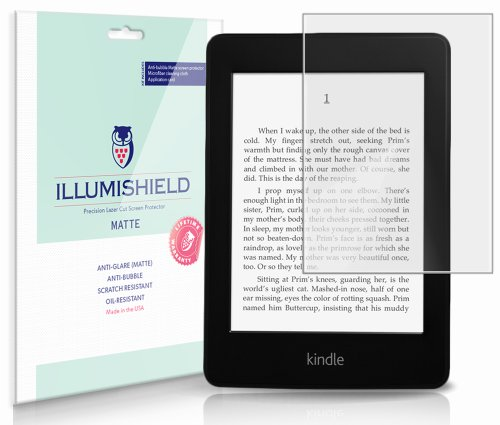iLLumiShield Matte Screen Protector Compatible with Amazon Kindle Paperwhite 6 inch Wi-Fi 3G (3-Pack) Anti-Glare Shield Anti-Bubble and Anti-Fingerprint PET Film