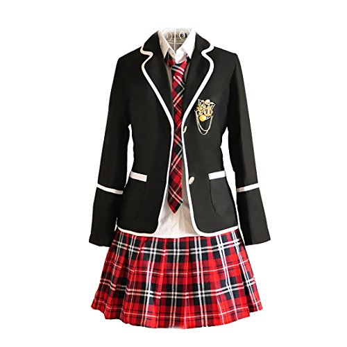 URSFUR Womens British Style Japan School Uniform Sets Cosplay Costume Anime -