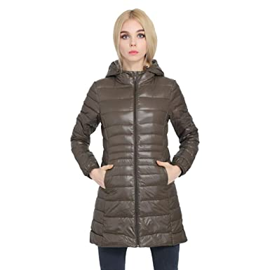 f66a4136203 BiBOONES Women s Winter Warm Jacket Women s Ultra Light White Duck Down  Jacket