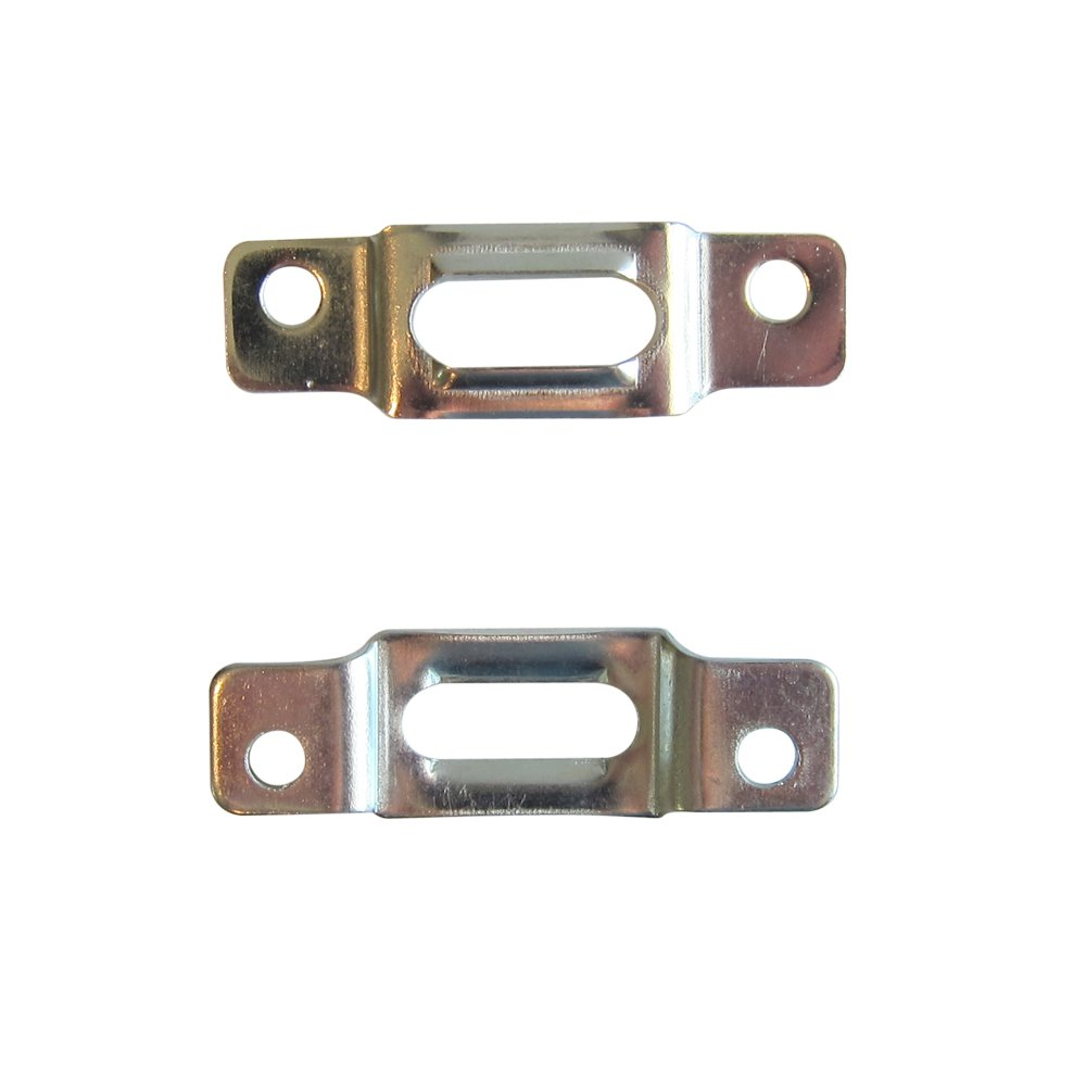 Security Frame Hardware-100 Pack Picture Frame Lock Hardware T-Screw Mounting Plate T-Screw Security Plate Lock for Wood Frame Security Hanger