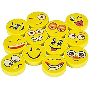 a9fda9781a6 144 Novelty Cute Emoji Erasers - Fun School Supplies - Colorful Expressions  Kids Will Love Materials