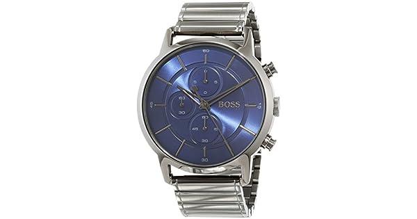 42454e465 Hugo Boss 1513574 Men's Quartz Watch, Analog Display and Stainless Steel  Strap, Blue: Amazon.ae: RIVOLI_uae