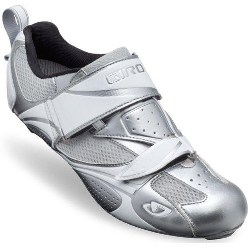 Giro Facet Triathlon Cycling Shoes(Chrome/White - 39)
