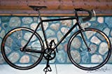 Alloy Black 55cm Track Fixed Gear Single Speed Road Bike