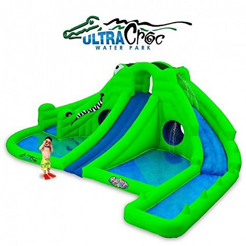 Blast Zone Ultra Croc Huge Inflatable Water Park ()